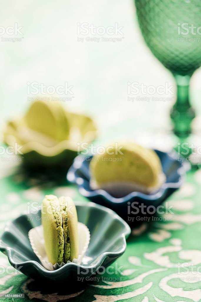 Lime Green Macaroons royalty-free stock photo