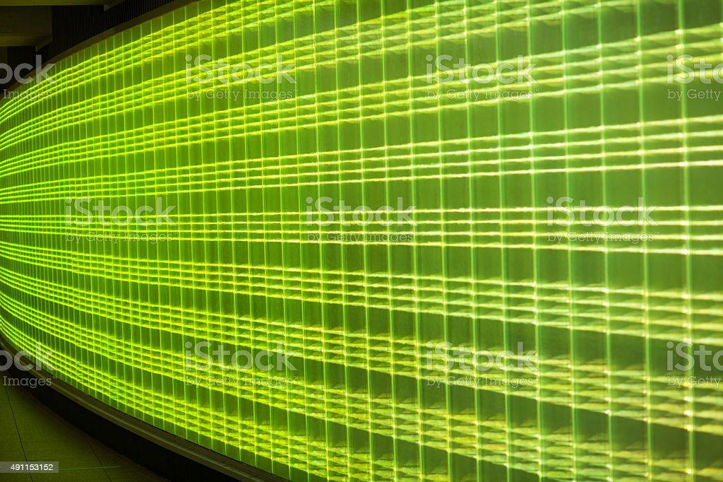 Lime green neon lights stock photo