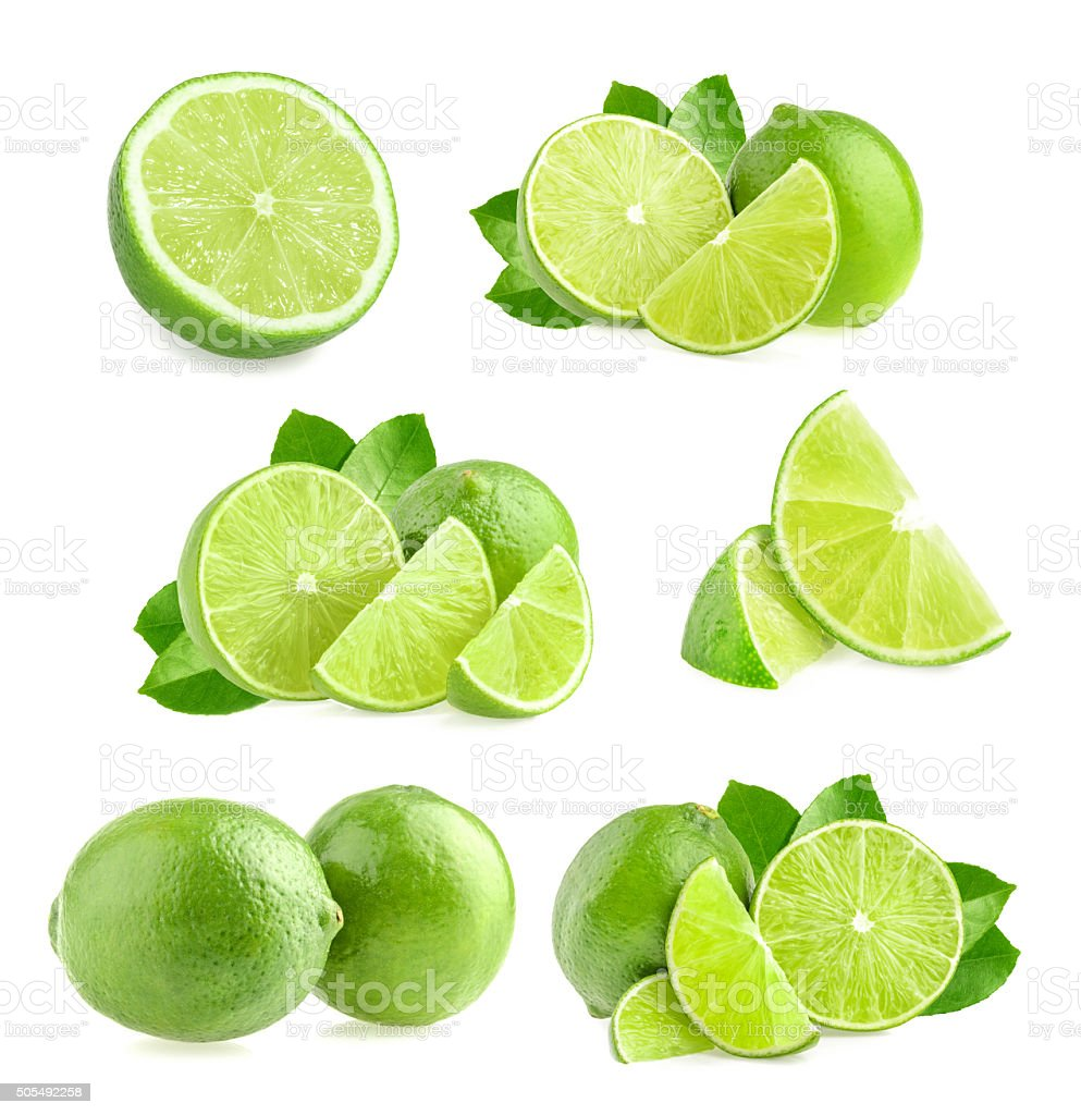 Lime isolated stock photo