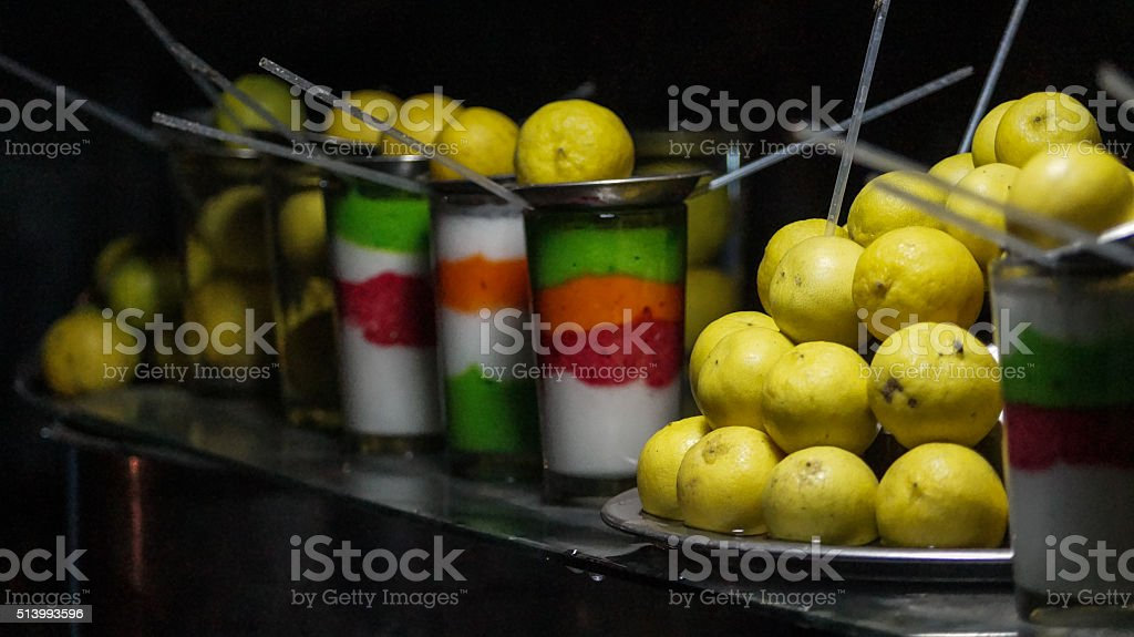 Lime juice & buttermilk - close up image stock photo