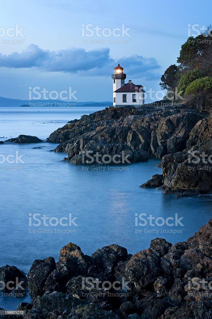 Lime Kiln Lighthouse stock photo