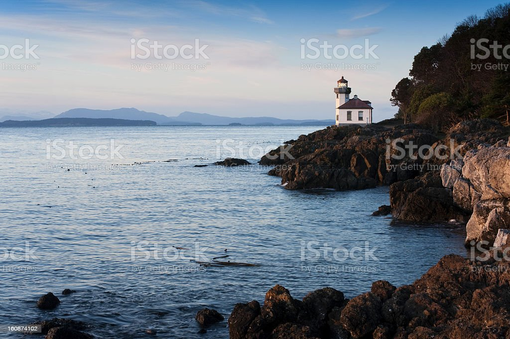 Lime Kiln Lighthouse stock photo