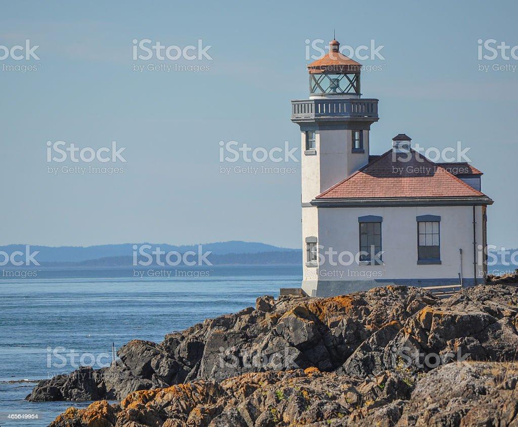 Lime Kiln Park Lighthouse stock photo