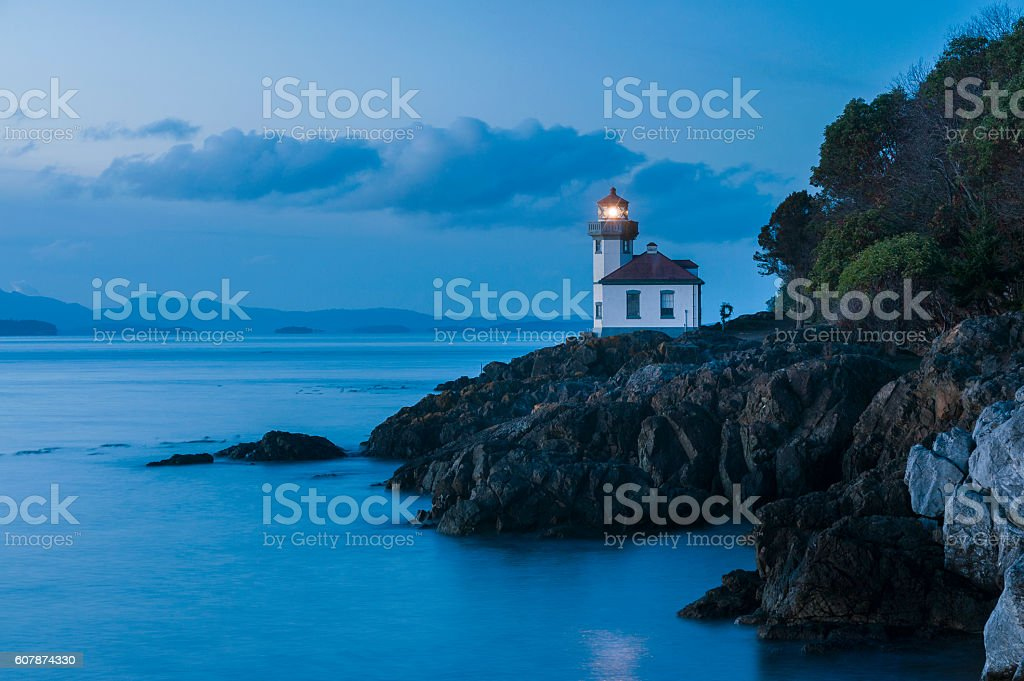 Lime Kiln Point State Park stock photo