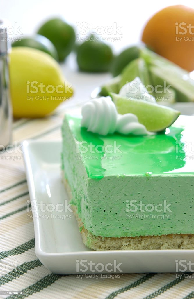 Lime mousse royalty-free stock photo