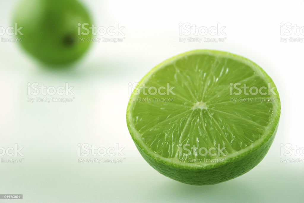 Lime near and far stock photo
