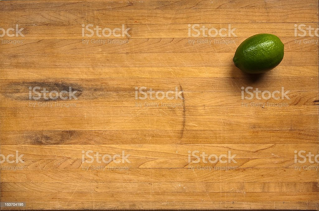 Lime on a Cutting Board stock photo