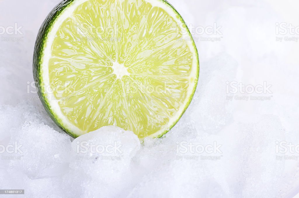 Lime on Ice royalty-free stock photo