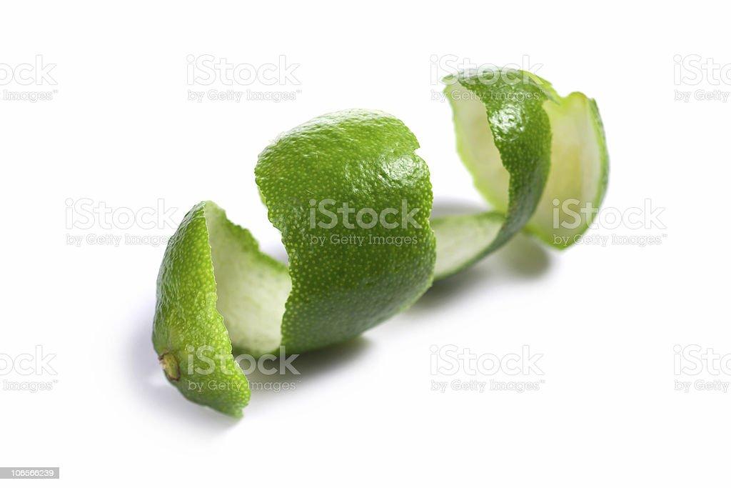 Lime peel stock photo