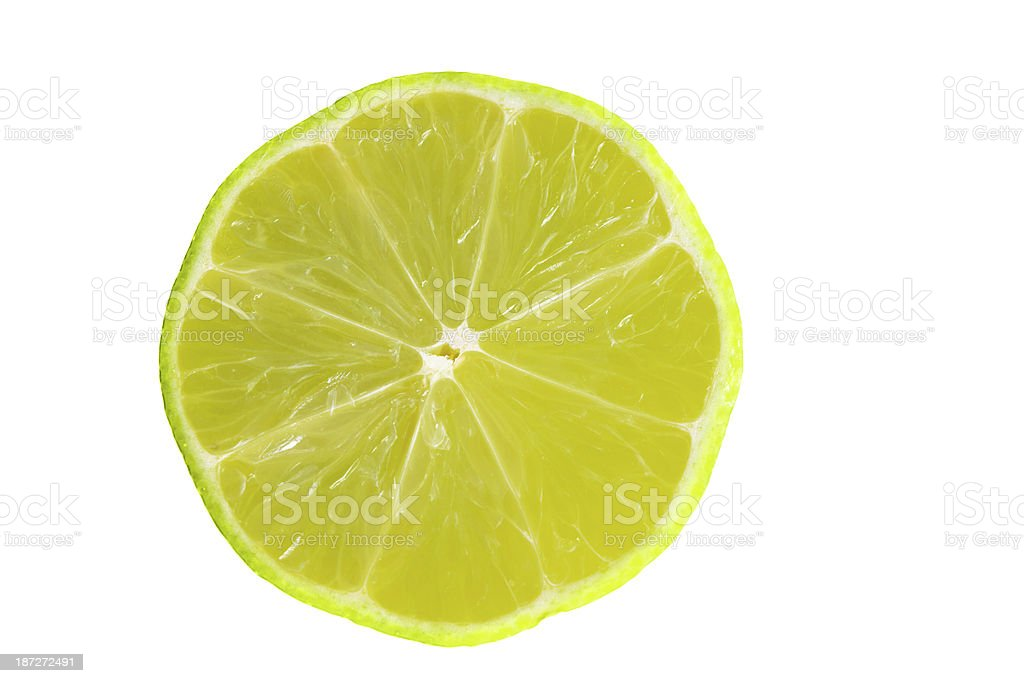 Lime Portion On White royalty-free stock photo