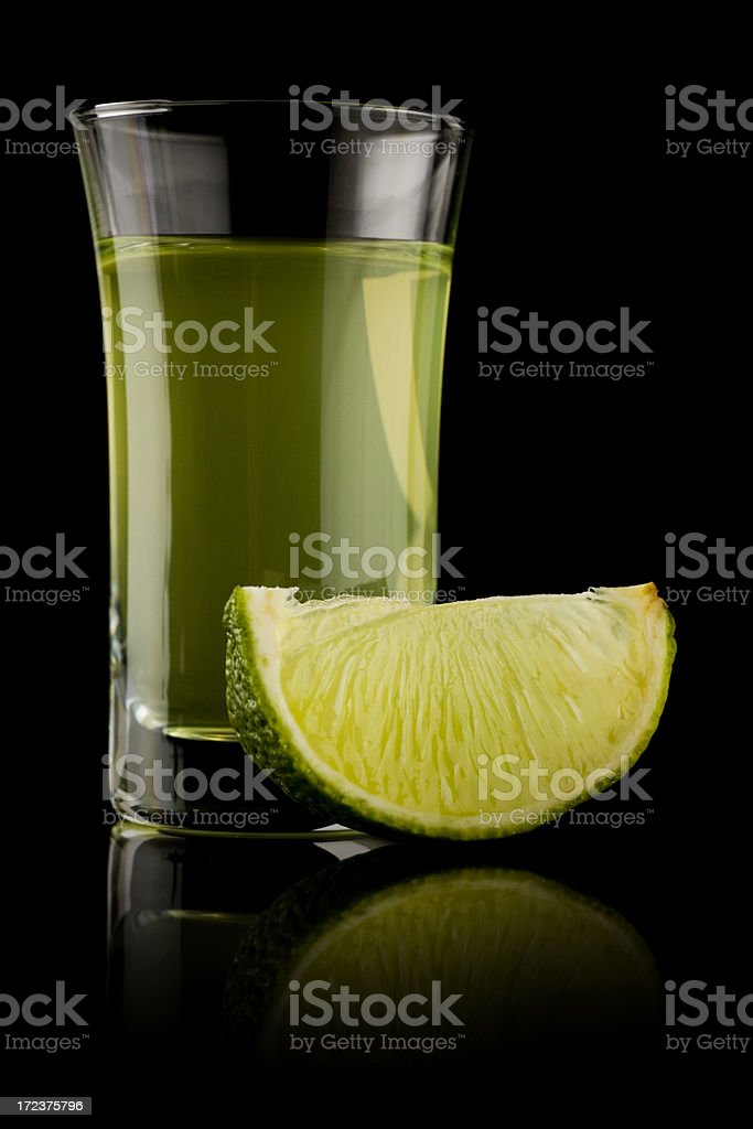Lime shot royalty-free stock photo