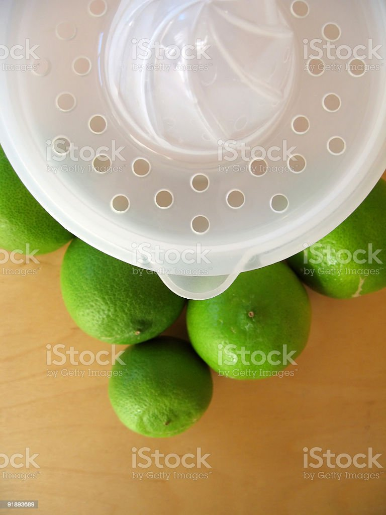 Lime Squeeze 2 stock photo
