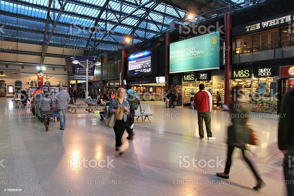 Lime Street Station stock photo