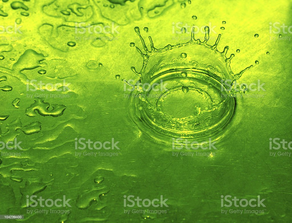 Lime Water Drop royalty-free stock photo