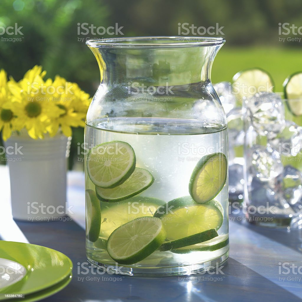 Lime Water stock photo