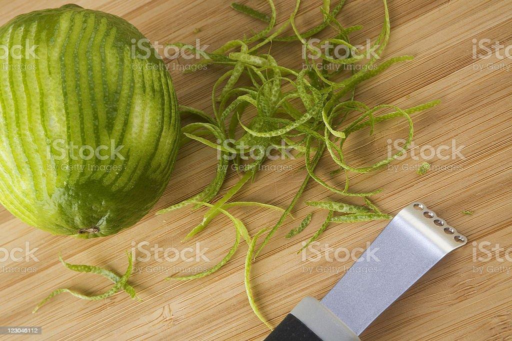 Lime Zest stock photo