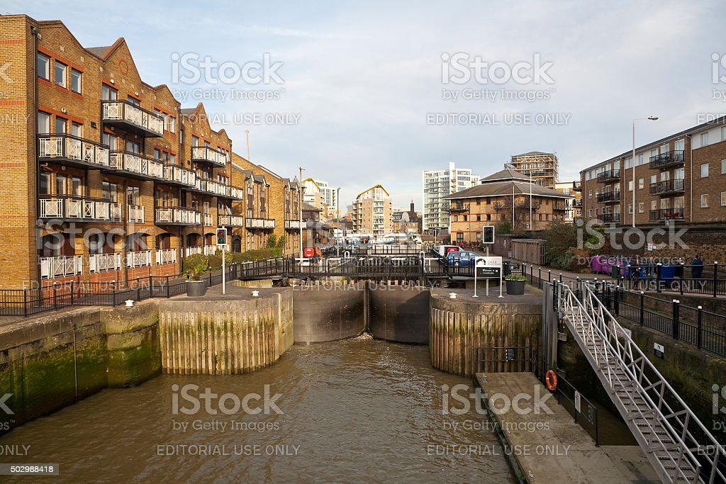 Limehouse Basin, London stock photo