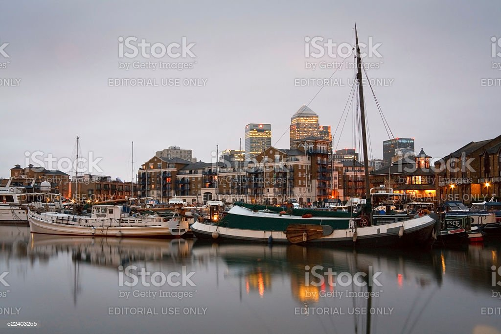 Limehouse Basin, London. stock photo
