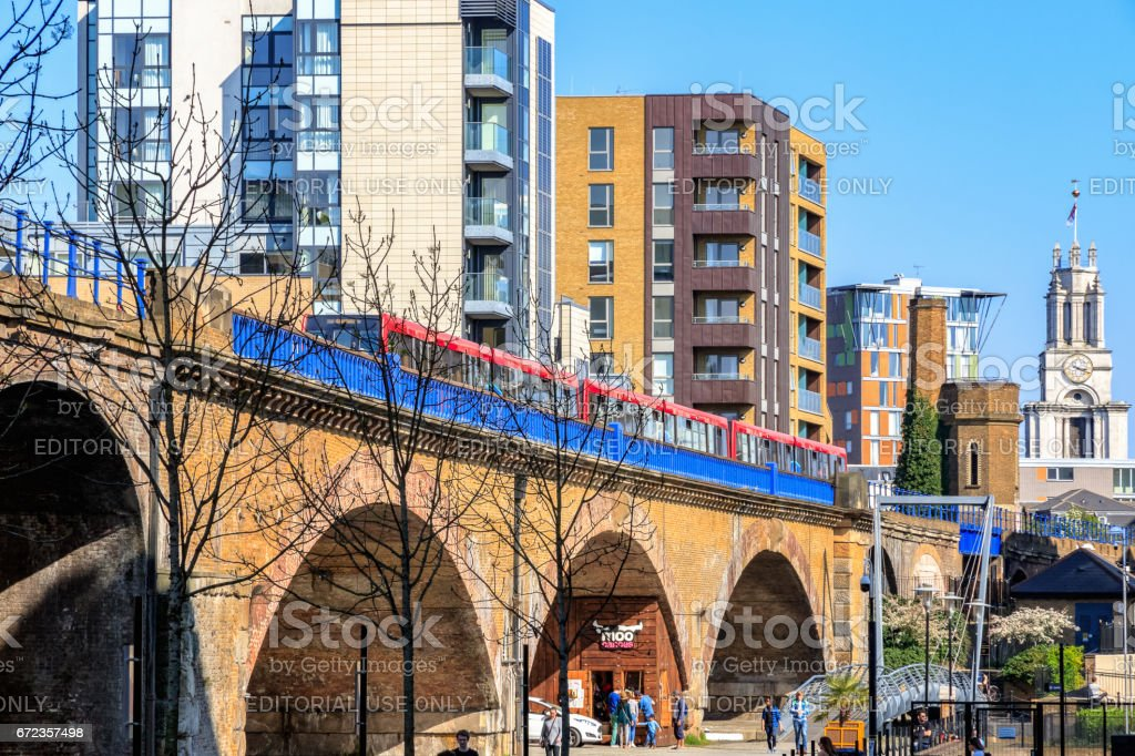Limehouse viaduct stock photo