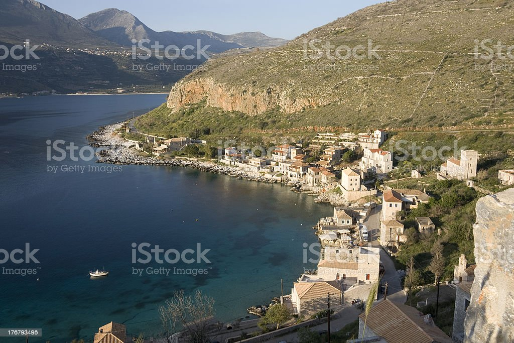 Limeni greek coastal village - Peloponnese stock photo