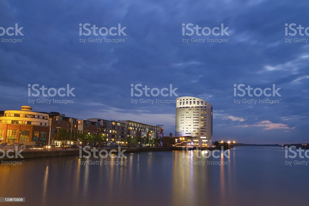 Limerick cityscape at dusk royalty-free stock photo