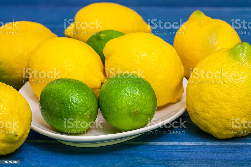 limes and lemons stock photo