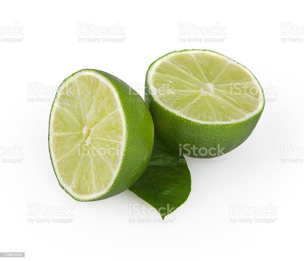Limes isolated on white royalty-free stock photo
