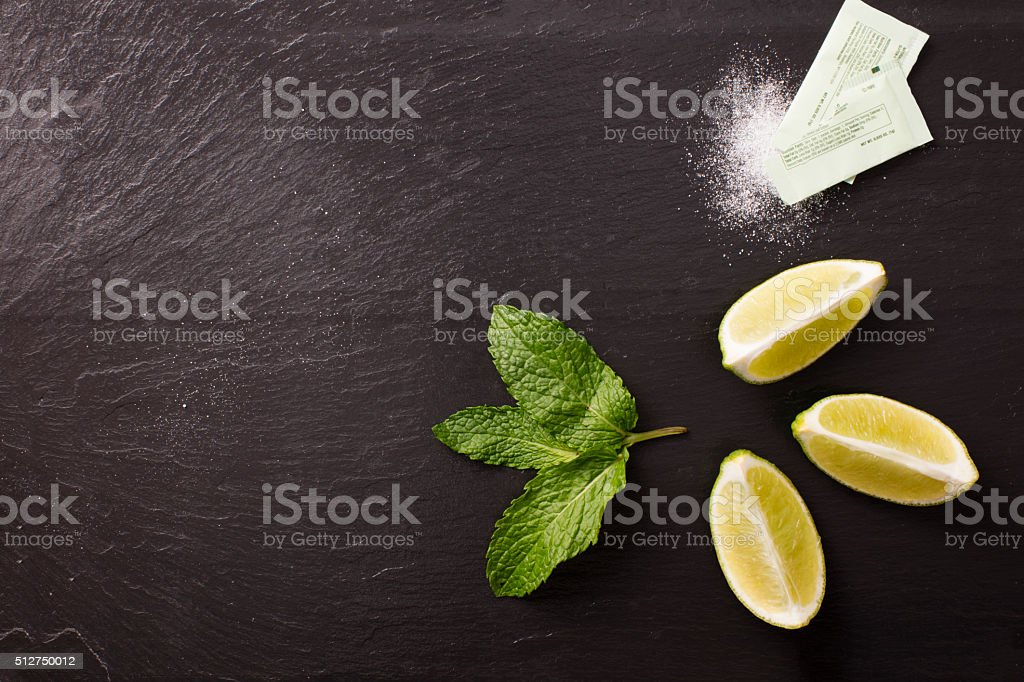 Limes, Mint and Sugar stock photo