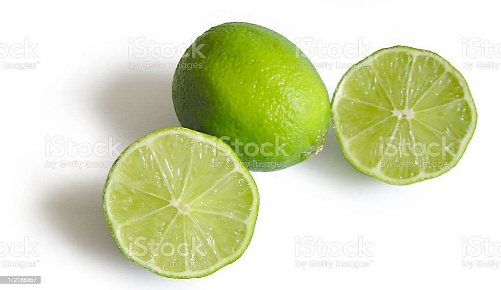 Limes (Lemons) with clipping path stock photo