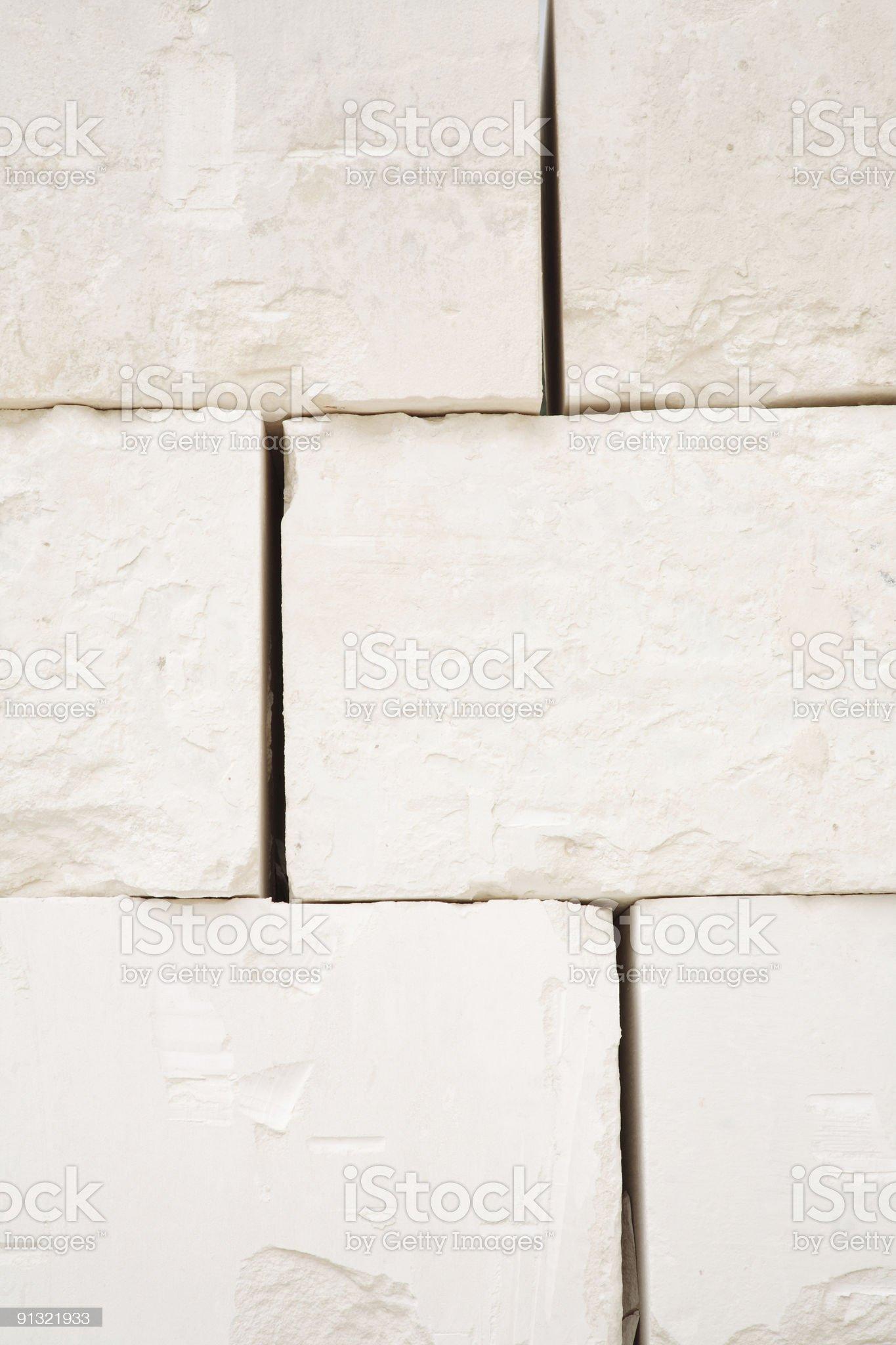 Limestone Blocks in a Quarry royalty-free stock photo