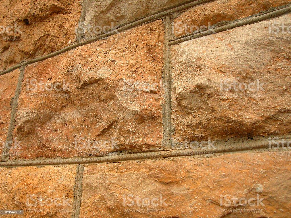Limestone brick wall royalty-free stock photo