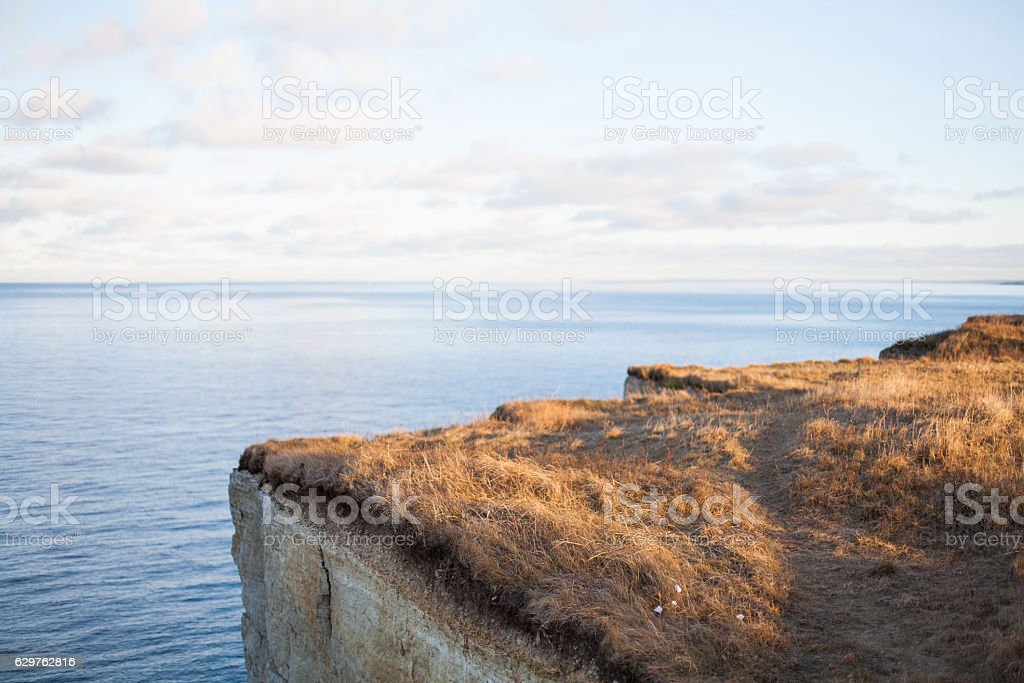 Limestone cliff stock photo