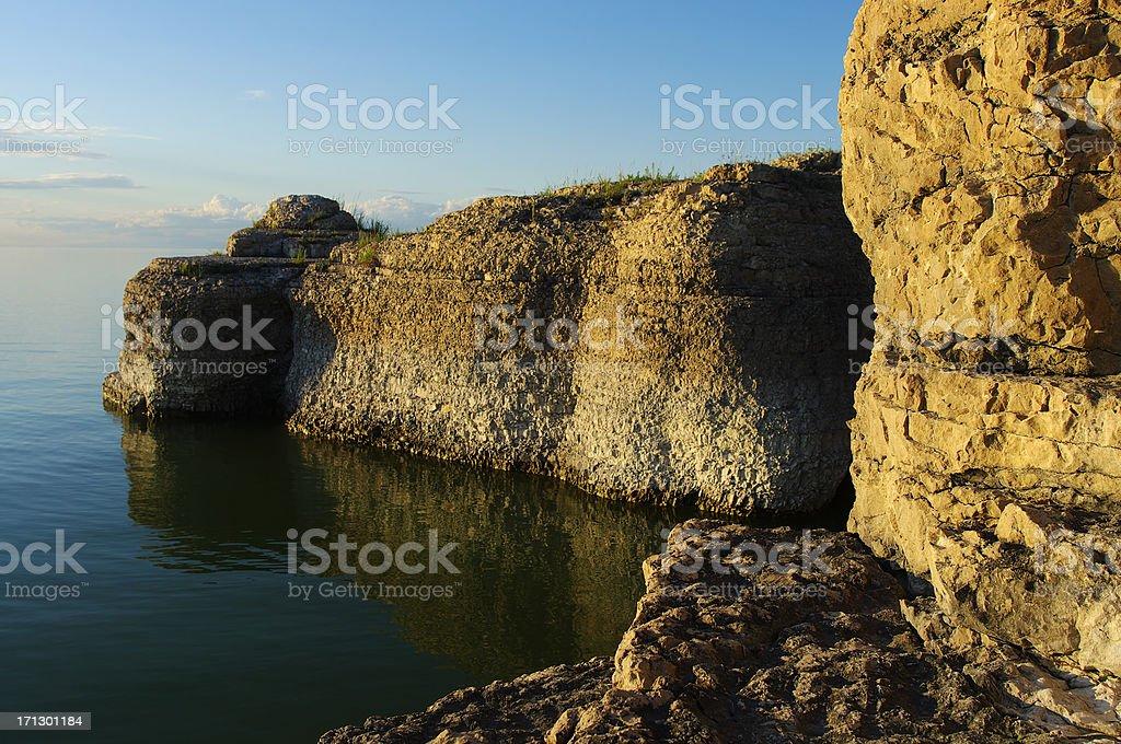 Limestone Cliffs royalty-free stock photo