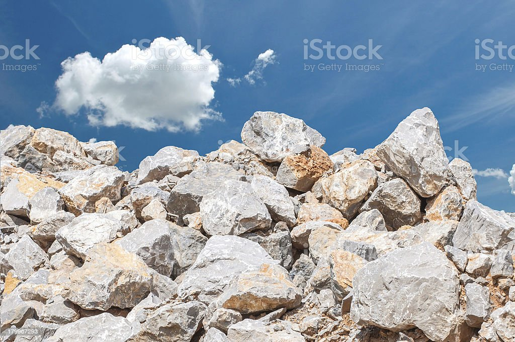 Limestone for Building royalty-free stock photo