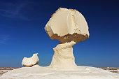 Limestone formation rocks in the White Desert, Egypt
