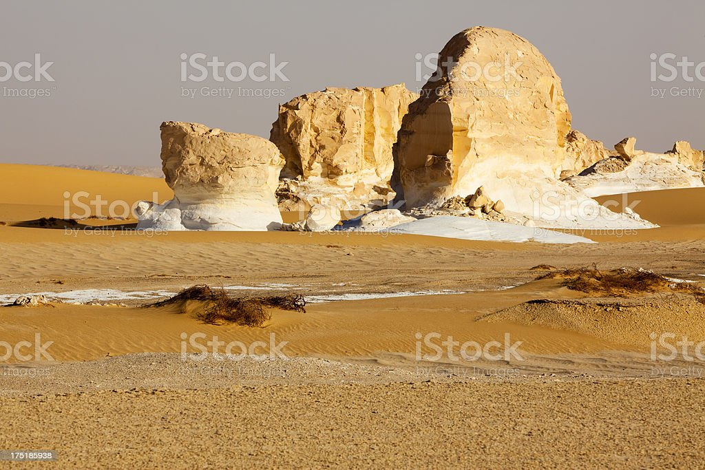 Limestone in the desert royalty-free stock photo