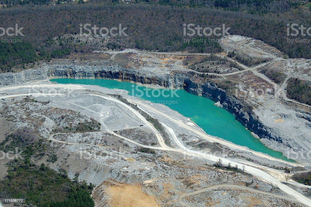 Limestone Quarry stock photo