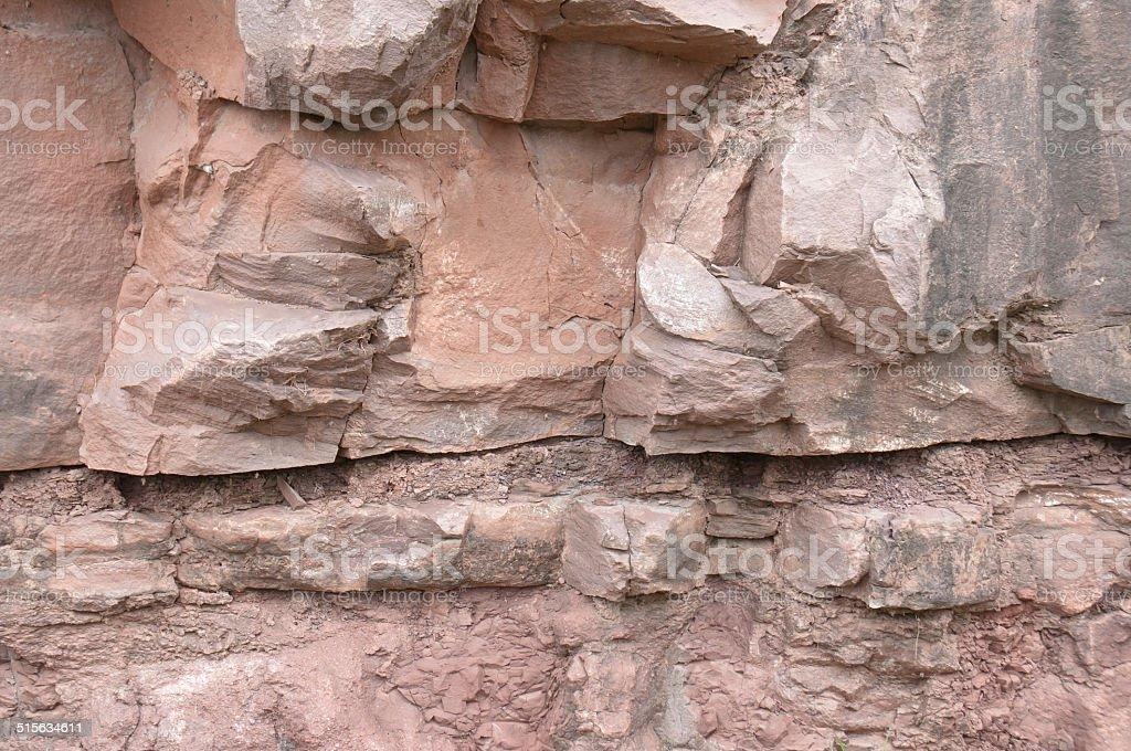 Limestone rock stock photo