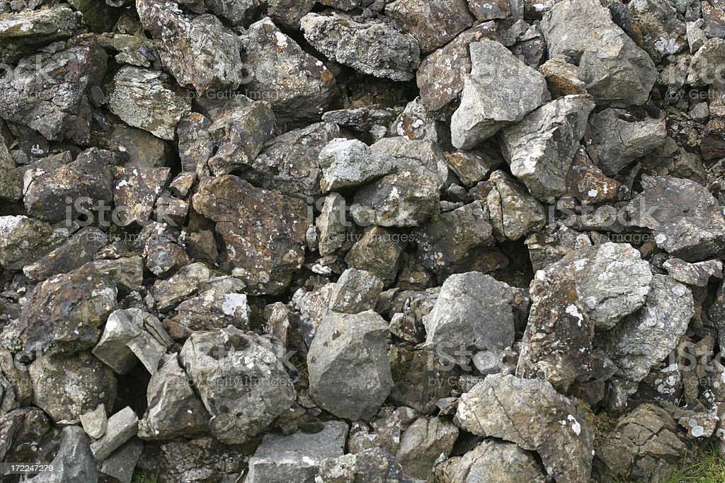 limestone rock pile royalty-free stock photo