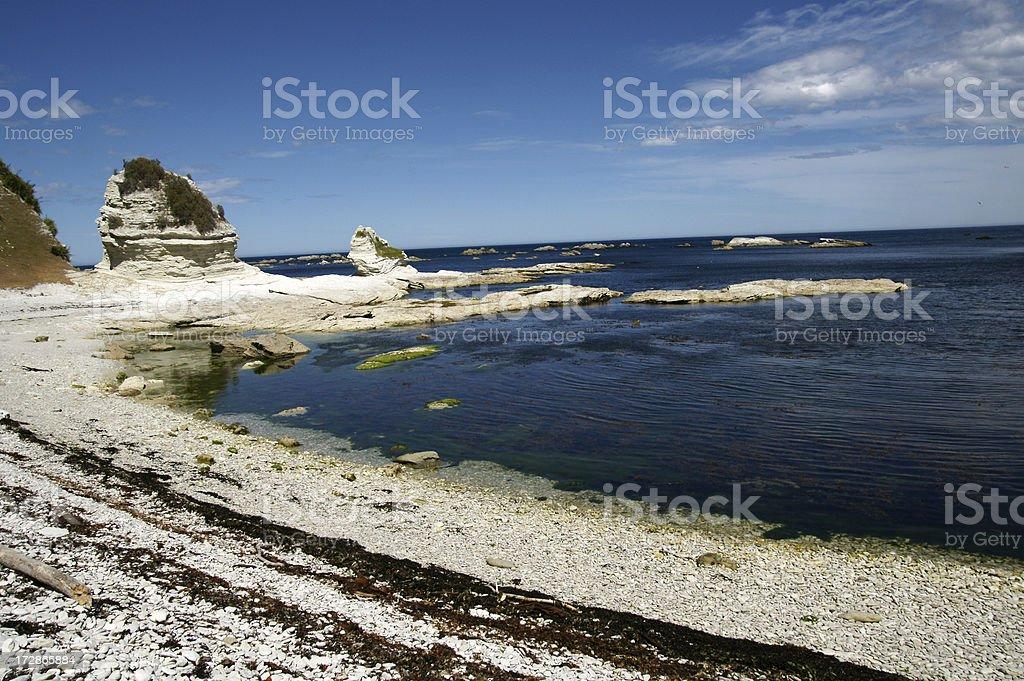 Limestone rocks near the coast. royalty-free stock photo