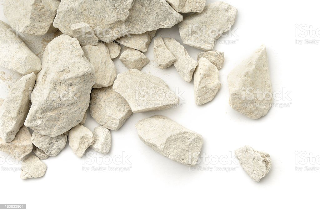 Limestone scattered stock photo