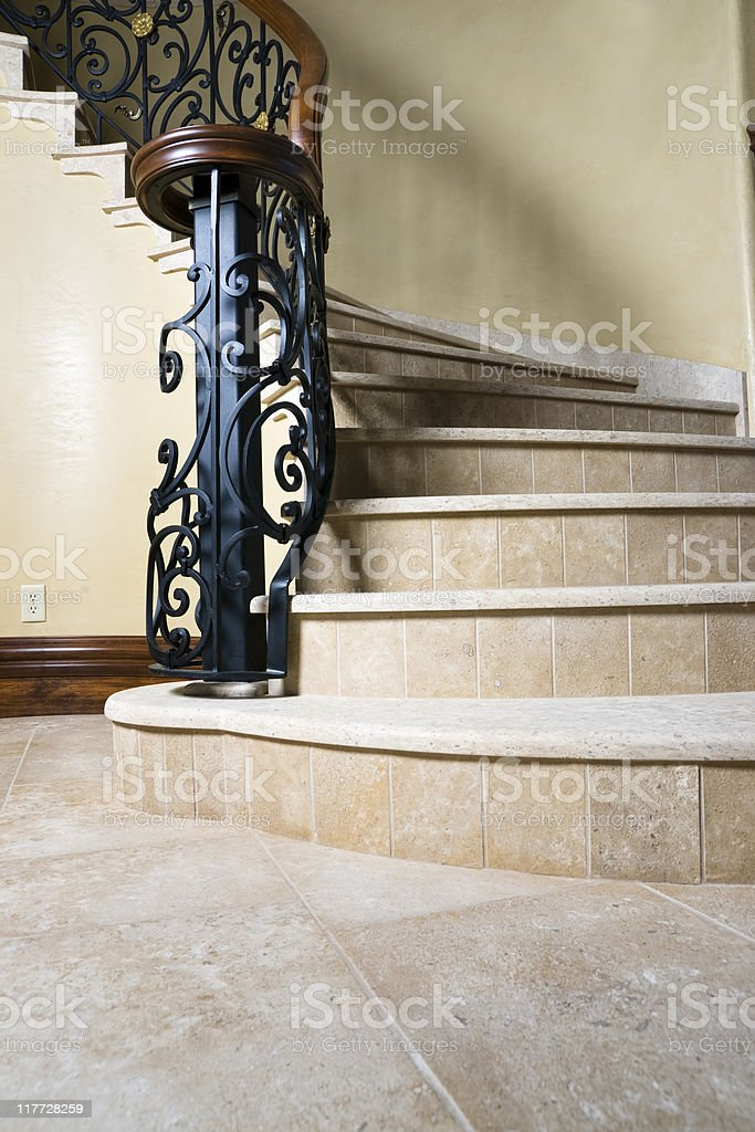 Limestone Stairs stock photo