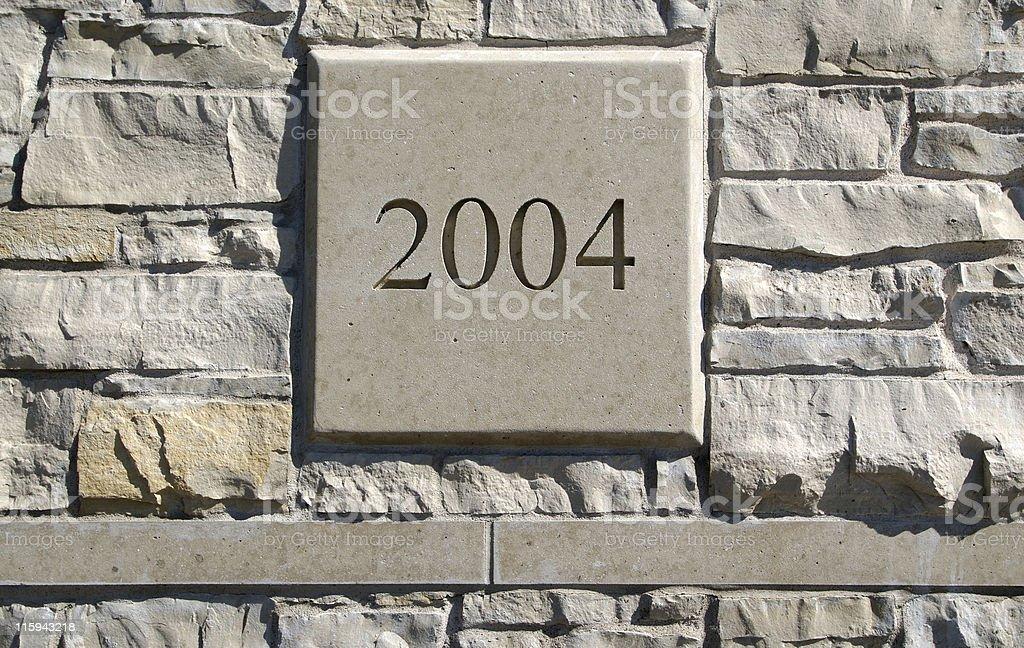 Limestone wall and cornerstone 2004 royalty-free stock photo