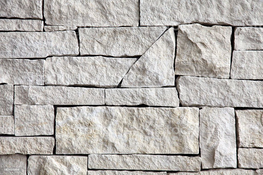 limestone wall - front view royalty-free stock photo