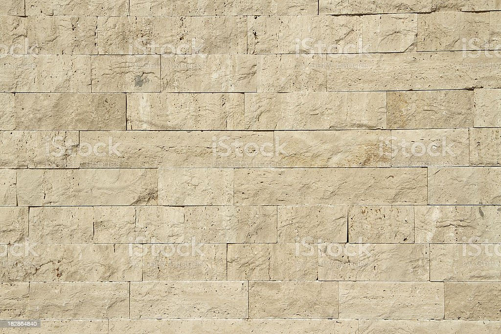 Limestone wall stock photo