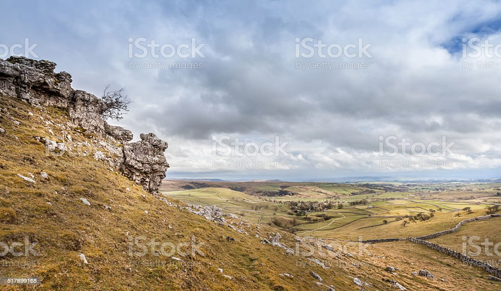 Limestone, Yorkshire Dales National park. stock photo