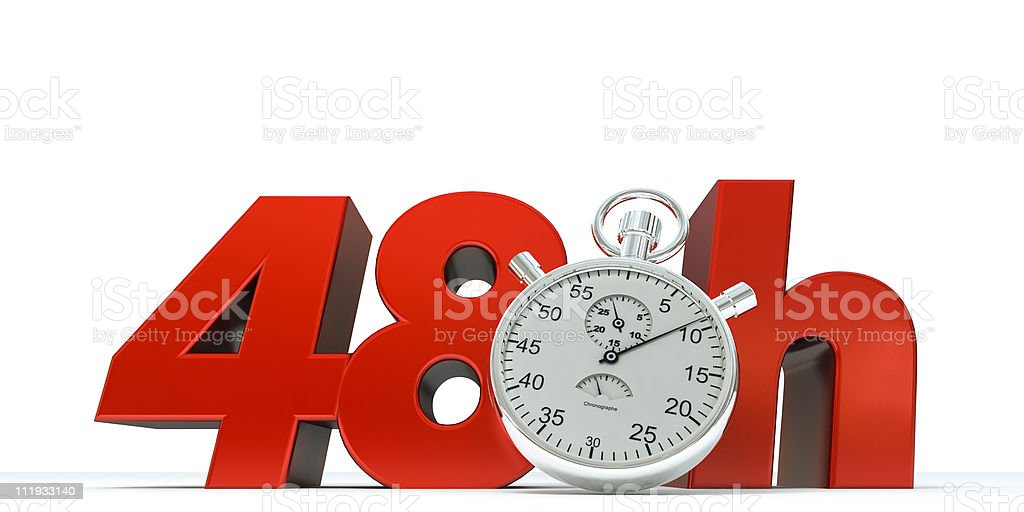 Limit 48 Hours royalty-free stock photo