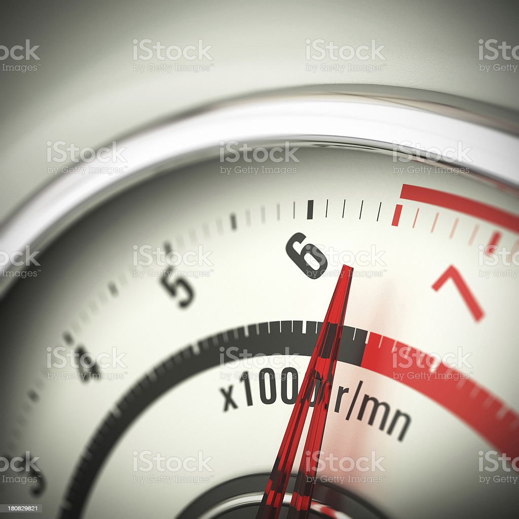 Limit Engine Speed - Rev Counter stock photo