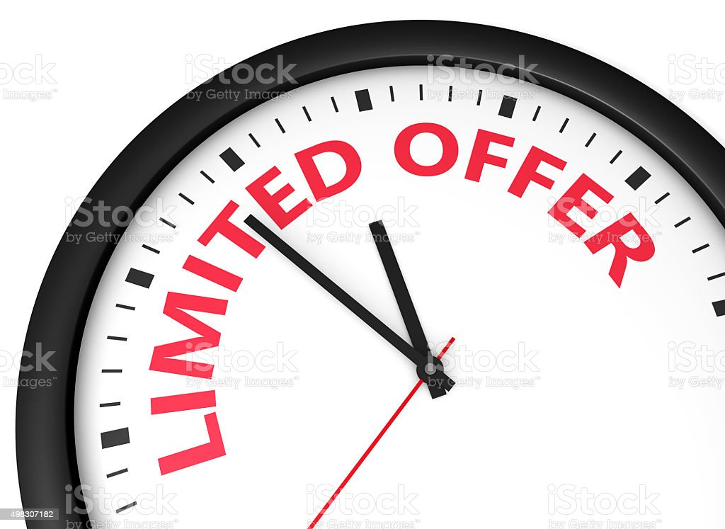 Limited Offer Concept stock photo