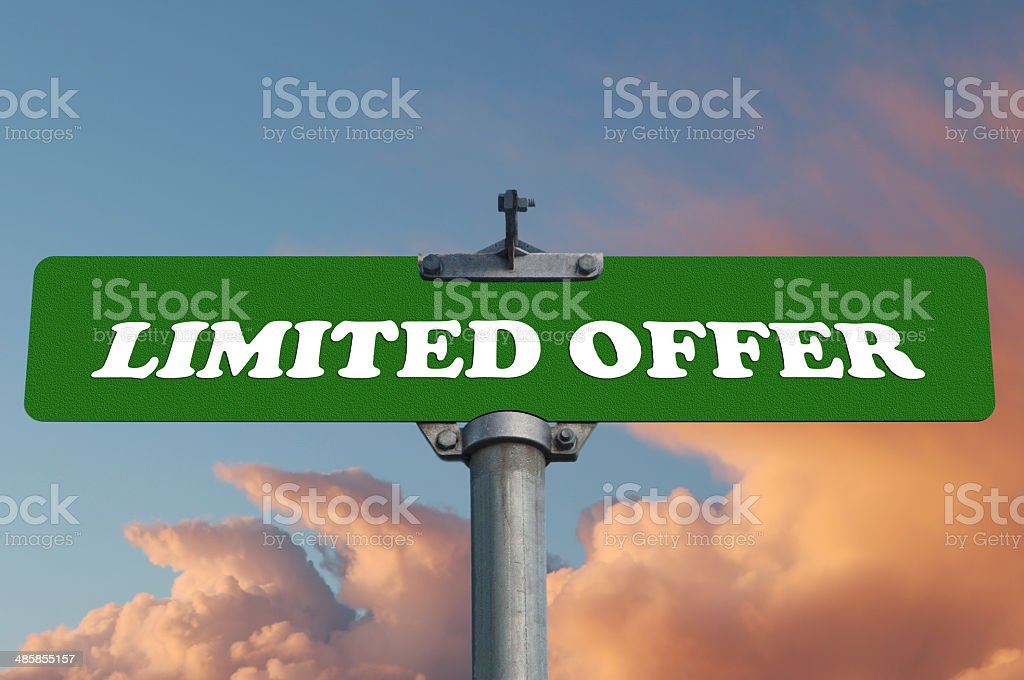 Limited offer road sign royalty-free stock photo